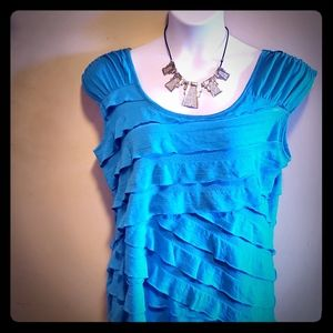 🔥SALE🔥 Beautiful turquoise pleated shirt